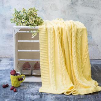Плед детский вязаный Vividzone СМАЙЛ 110х120 желтый