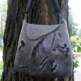 валяная сумка Батерфляй