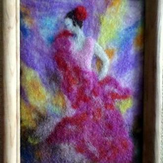 шерстяная акварель Фламенко