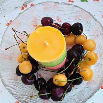 Декоративная ароматическая свеча Фруктовый микс