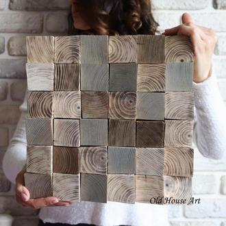 Панно. ЭКО картина. Зашивка стен 3D панелями из дерева