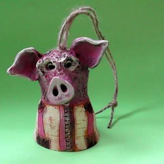 Колокольчик Свинья №5