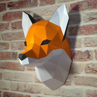 Полигональный набор для сборки лисы, паперкрафт / papercraft fox