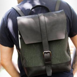 Кожаный рюкзак для путешествий