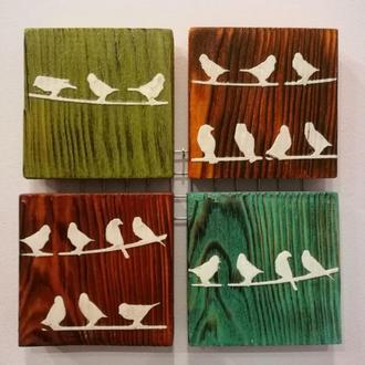 Декоративне панно Пташки