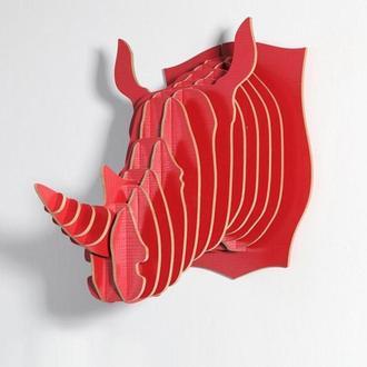 Декоративные голова носорога на стену