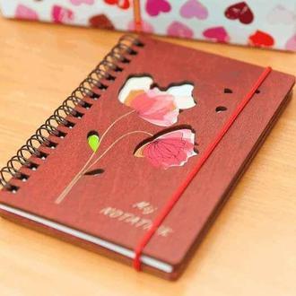 Блокнот с деревянной обложкой My notebook 95х145мм
