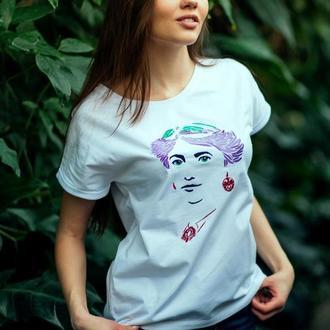 """Футболка с авторской вышивкой """"Соломия Крушельницкая"""""""