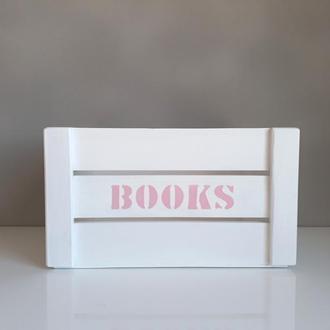 Ящик для книжек от WoodAsFun, деревянный, для хранения книг