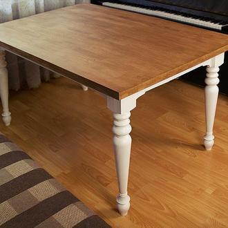 Стол обеденный для гостиной из натурального дерева. Ручная работа