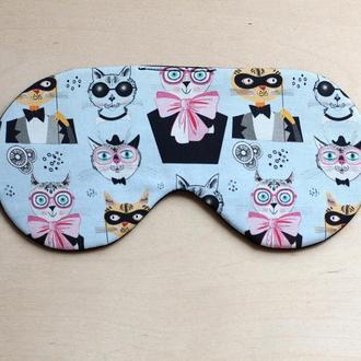 маска для сна с котами джентельменами