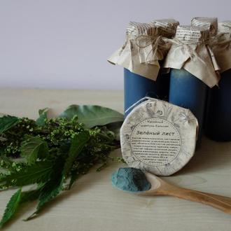 Безсульфатный шампунь-бальзам со спирулиной, крапивой и репейником
