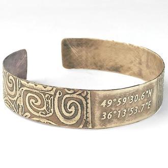 Персональный браслет с Вашими координатами, именем или любым сообщением на заказ