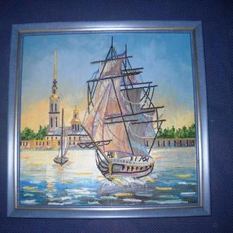 Картина бісером Корабель