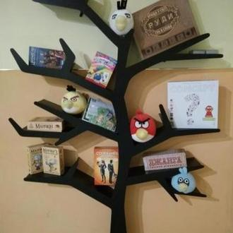 Декоративная Полка в виде дерева