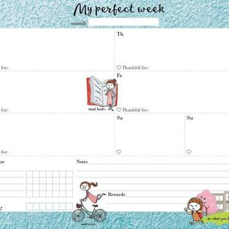 Еженедельник Weekly planner My perfect week Мотивирующий