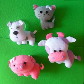Домашние животные из фетра (игрушки на мобиль)