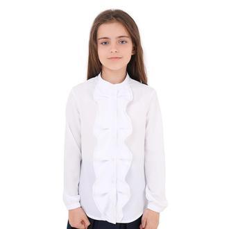 Блуза Liliya дл/р резинка, волан на планке B033075 от ТМ Timbo
