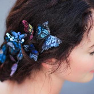 шпильки и невидимки для волос с бабочками