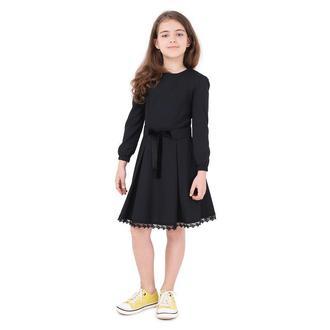 Платье Jasmine д/р, черная тесьма, пояс на завязках Timbo