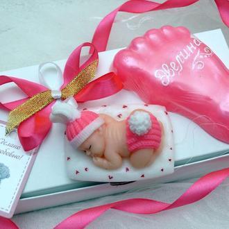 Набор мыла на рождение малыша, крестины, как подарок молодой маме