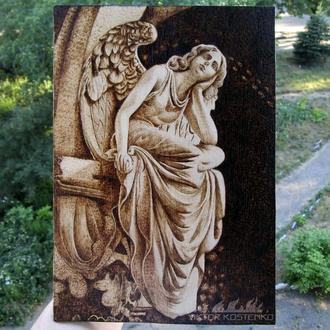 "Выжженная картина ""Ангел"""