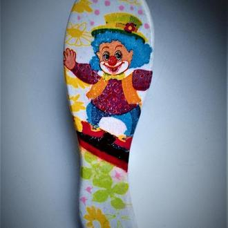"""Гребінець масажка """"Клоун"""" для малюків"""