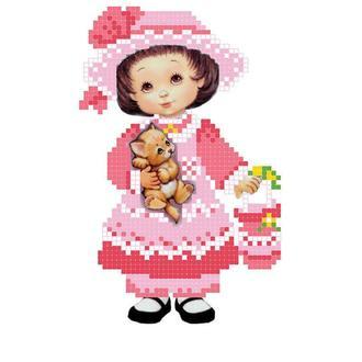 """Схема для вышивки бисером """"Маленькая леди"""""""