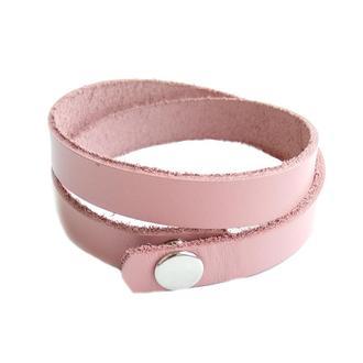 Кожаный браслет Just Feel Кайзер pink