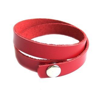 Кожаный браслет Just Feel Кайзер red