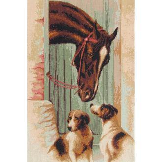 """Набор для вышивания крестиком """"У конюшни"""""""