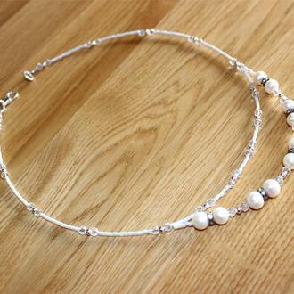 Свадебное украшение, Жемчужное ожерелье, натуральный жемчуг Акойя