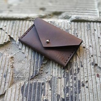 "Картхолдер кожаный ""Конверт"" brown"