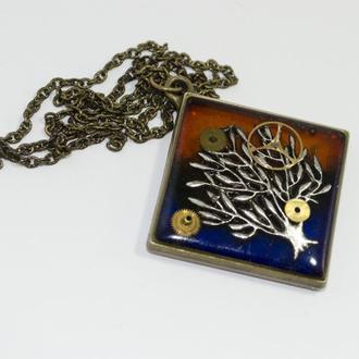 Кулон Дерево в стилі Стімпанк Steampunk