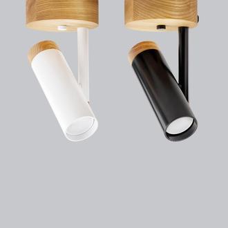 Бра (потолочный светильник) в стиле лофт, металл и ясень