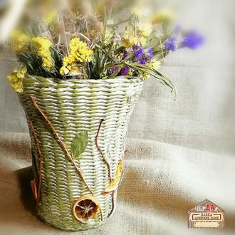 Корзина ваза кашпо