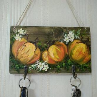 Ключница ручная роспись, тыквочки