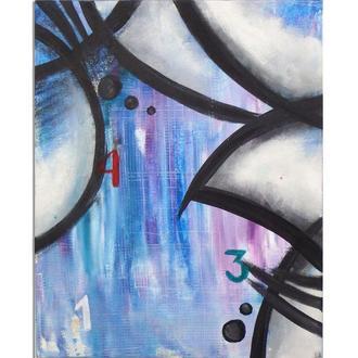 431. Абстрактная картина купить абстракцию авторская живопись акрил на холсте