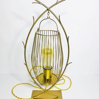 Настольная лампа Золотая клетка