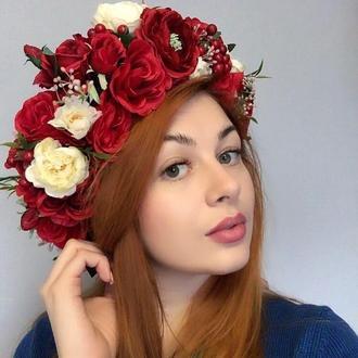 """Венок """" Огненная роза"""""""
