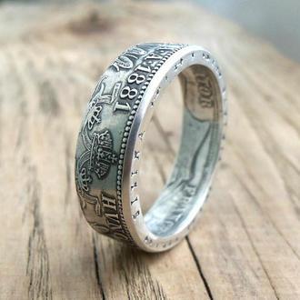 Кольцо из монеты Флорин Австро-Венгрии Серебро 900