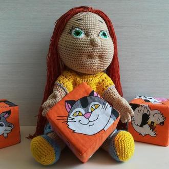 В'язана ігрова лялька Рижулька