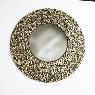 """Зеркало круглое """"Золотые узоры"""""""