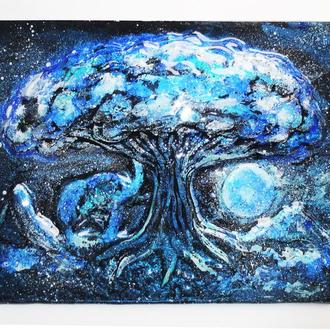 "3D картина ""Звездное Дерево""  (фьюзинг)"