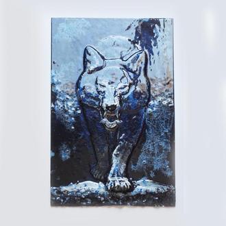 """3D картина """"Волк"""" (фьюзинг)"""