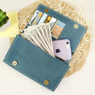 "Шкіряний гаманецьм""ОЛЕКСА"", портмоне, кожаный кошелек, тревел-гаманець"