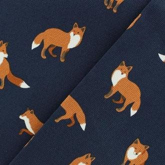 Ткань COTTON CANVAS DAILY LIKE - WINTER FOX NAVY Dailylike