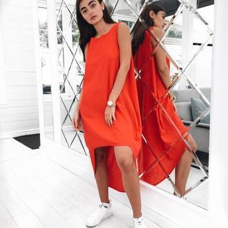 Платье Асимметрия Лен ELSA