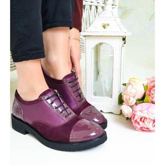 Sola Purple - Кожаные оксфорды ручной работы