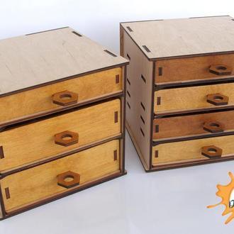 Органайзер, бокс, шкаф для радиоэлементов, для шурупов, винтов, для моделиста, для рукоделия, ниток